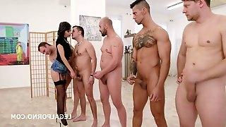 Gangbang Sexually Attractive Lady DAP Hardcore Porn Video