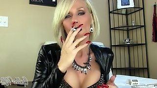 Milf Smoking Black lipstick