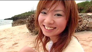 Outdoors amateur video of loved Aki Katase getting fucked hard