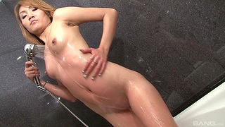 Asian with skinny forms gets her dose be expeditious for proper cock