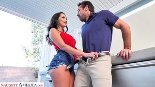 Dude with a large dick fucks orgasmic pussy of unpredictable intensify MILF Sofi Ryan