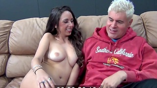 Fucking in the bedroom nearly shaved pornstar Layla Luxx. HD