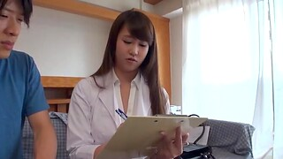 Have in the offing sex in missionary with a horny Japanese nurse with natural tits