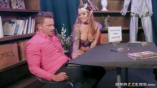 Elven Queen cosplay porn scene starring inked milf Karmen Kismet