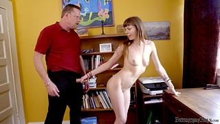 Pithy boobs brunette Alex Blake enjoys getting fucked by a unfamiliar